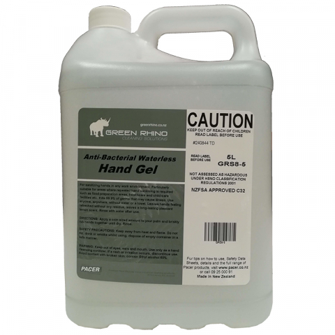 Hand Sanitiser Alcohol Gel 5Litres - Green Rhino