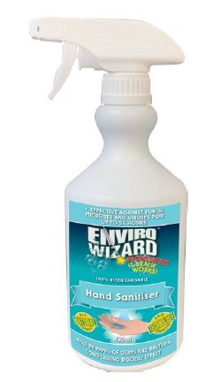 Hand Sanitiser 750ml trigger spray - Enviro Wizard