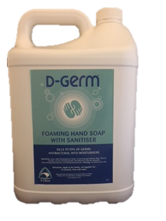 Foaming Hand Soap /Sanitiser - 5ltr - D-Germ