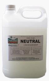 Soap (hand)  Neutral - 5ltr - Natural Choice